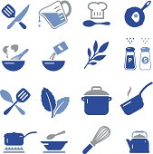 Cooking and baking icon set. Vector icons for video, mobile apps, Web sites and print projects. See more in this series.