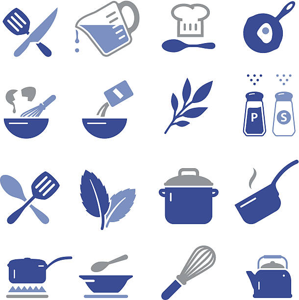 cooking icons - pro series - mixing bowl stock illustrations, clip art, cartoons, & icons