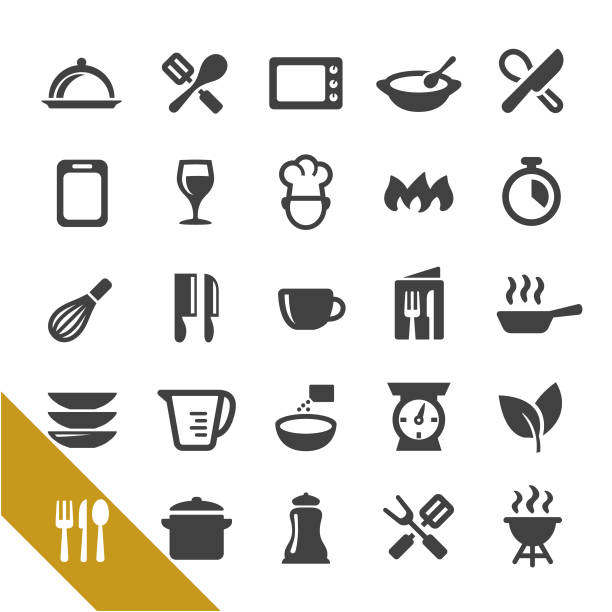cooking icons - select series - cooking stock illustrations