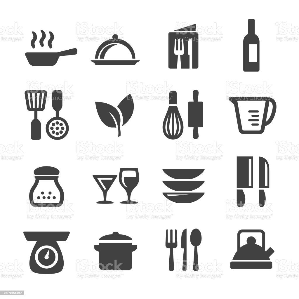 Cooking Icons Set - Acme-Serie - Lizenzfrei Backen Vektorgrafik