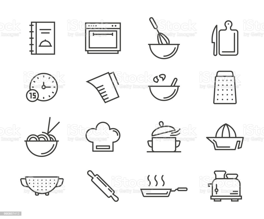 Cooking Icons - Векторная графика Векторная графика роялти-фри