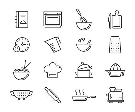 Cooking Icons — стоковая векторная графика и другие изображения на тему Векторная графика
