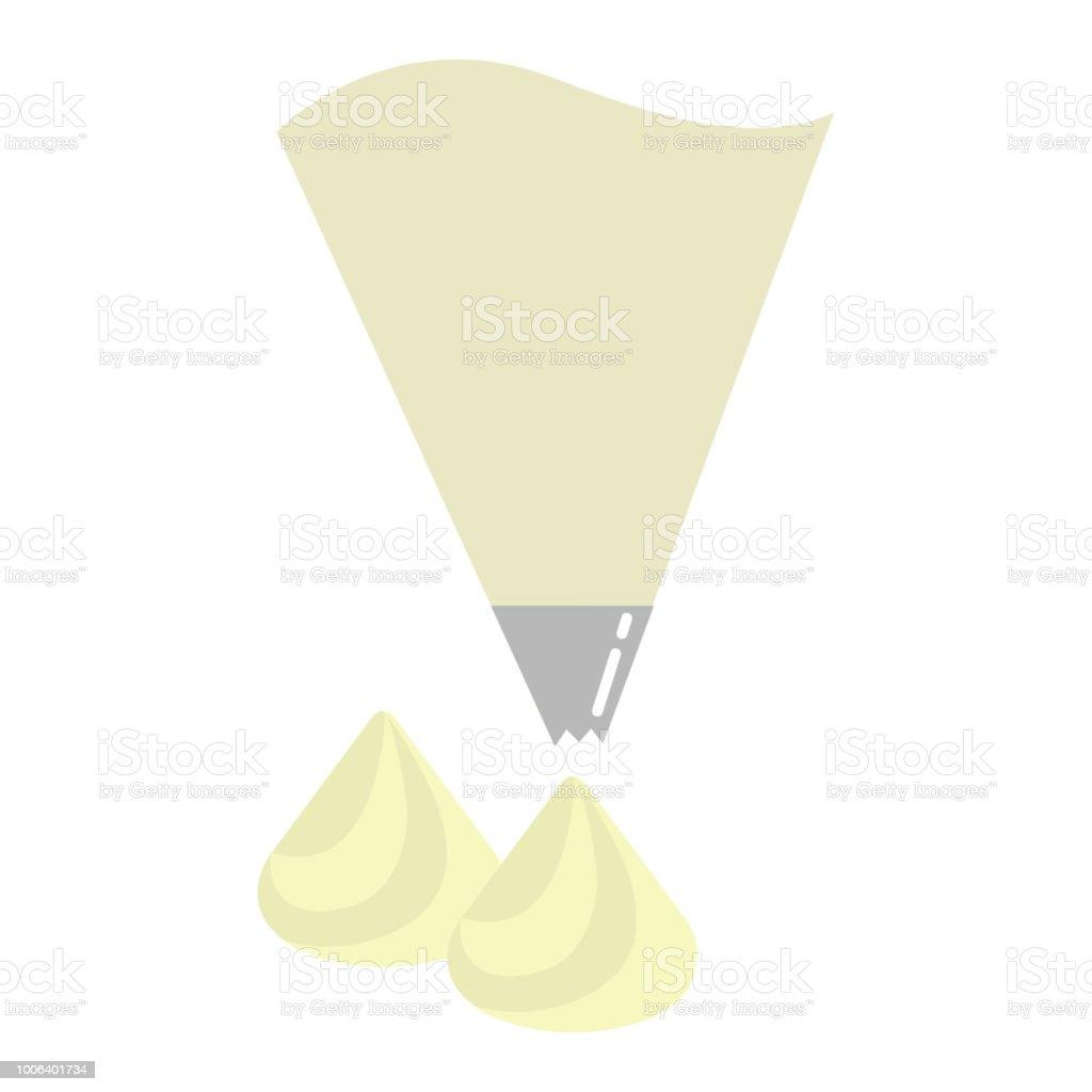 料理イラスト菓子袋ホイップ クリーム Guiのベクターアート素材や画像