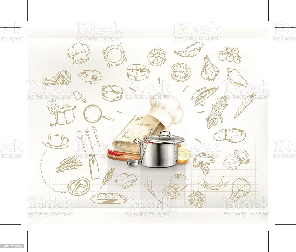 Cooking infographics, vector vector art illustration