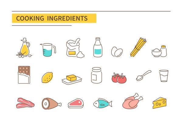 ilustrações de stock, clip art, desenhos animados e ícones de cooking ingredients - manteiga