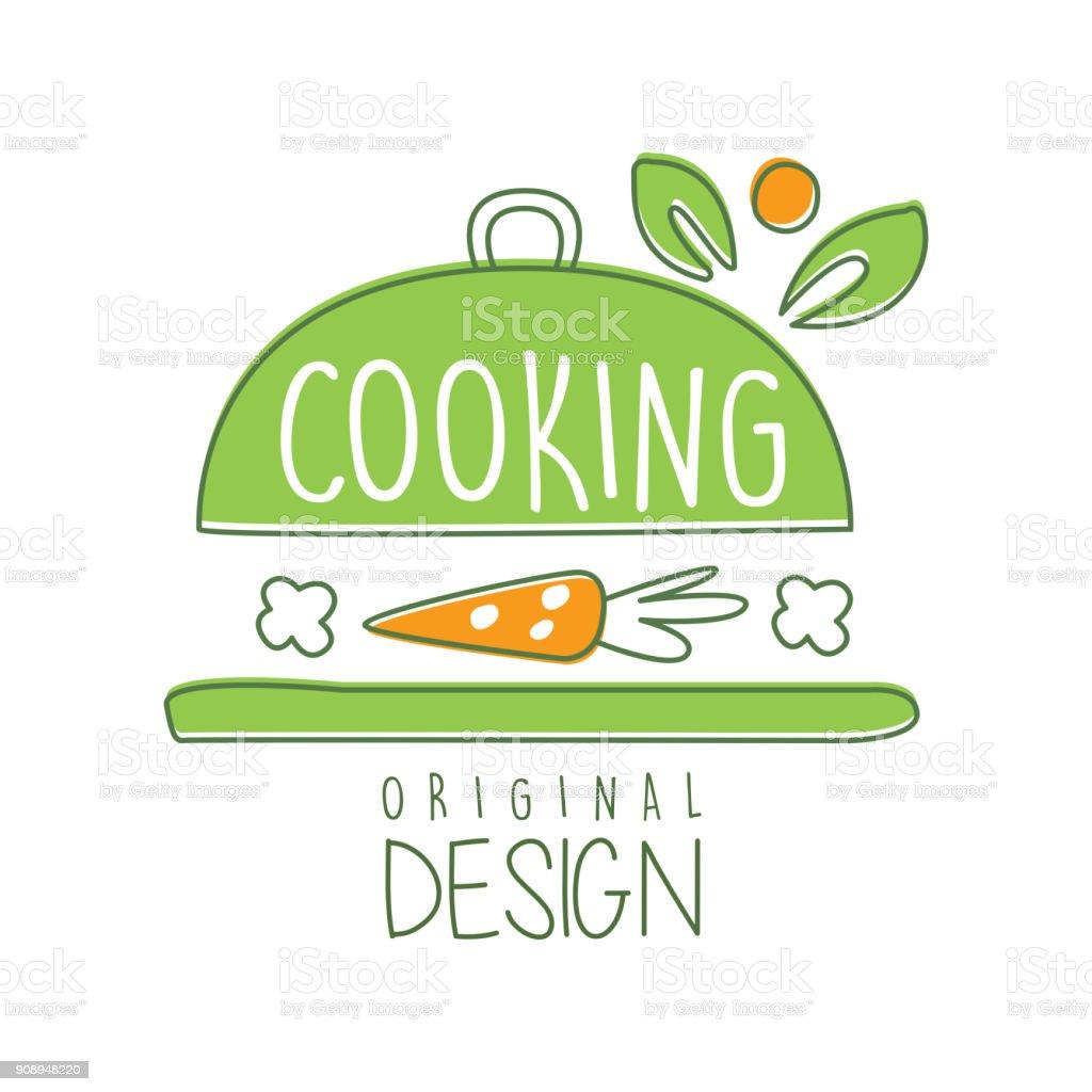 Ilustración de Diseño Original Del Logo Cocina Con Utensilios De ...