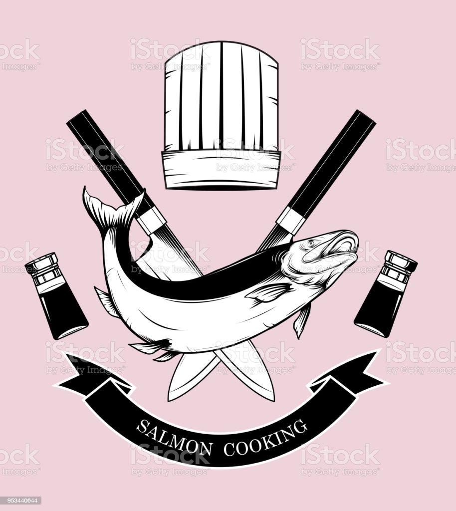 Ilustración De Vectores De Logos De Cocina A Mano Dibujo Y Más Vectores Libres De Derechos De Alimento