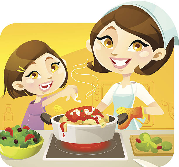Cooking Mama vector art illustration