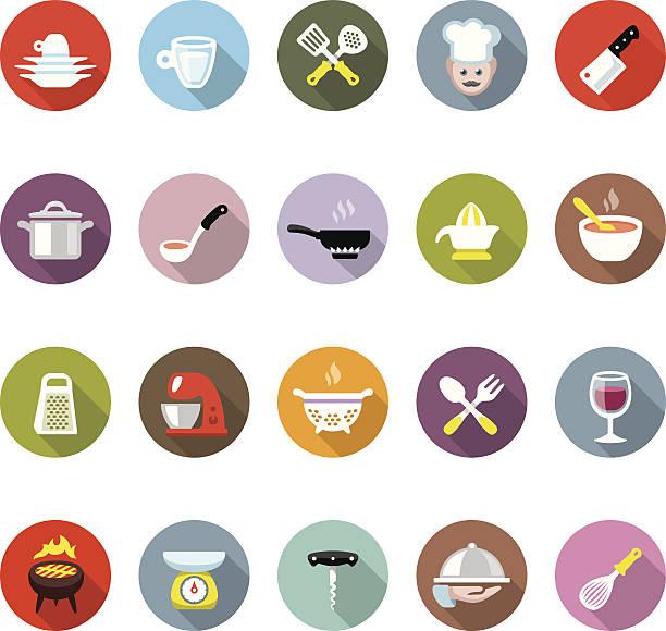 koch-/modico symbole - gourmet küche stock-grafiken, -clipart, -cartoons und -symbole