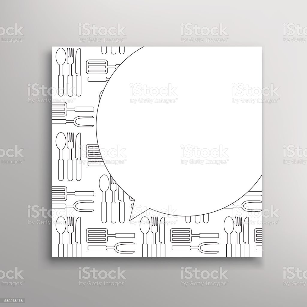 Cooking Party Invitation Culinary School Vector Template stock ...