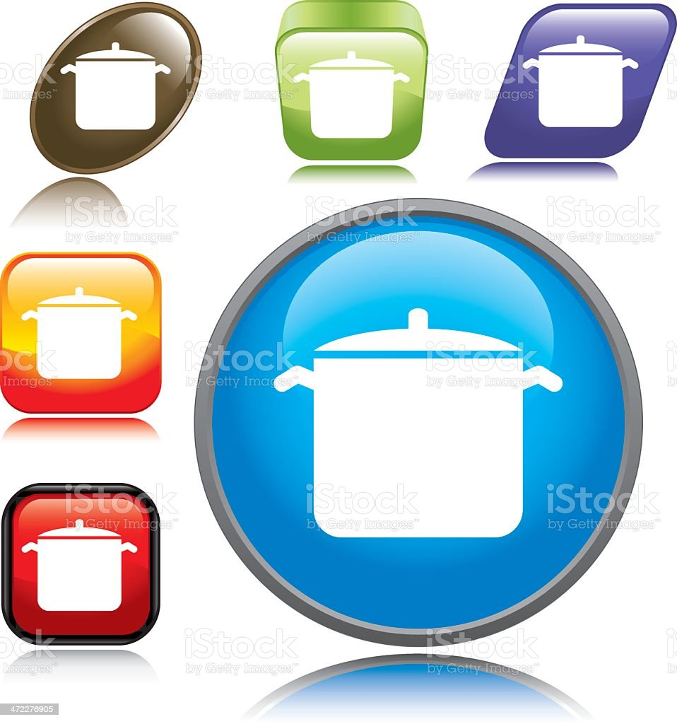 Cooking Pot Icon royalty-free stock vector art