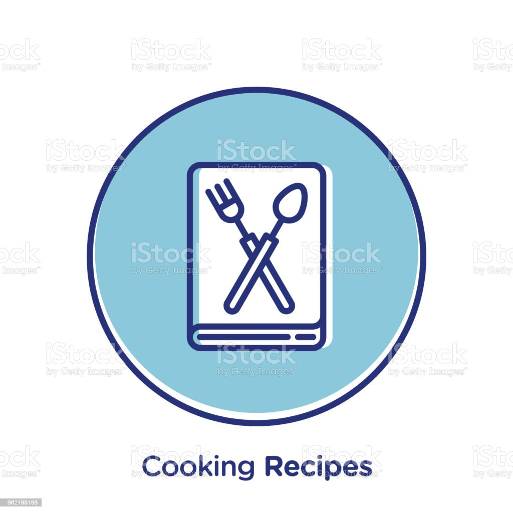 Cooking Recipes Stock Vector Art & More Images of Badge 962198198 ...