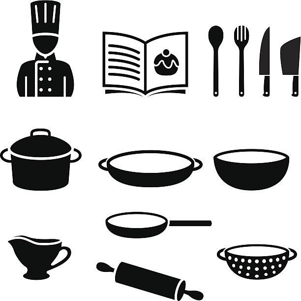 Kochen Symbole – Vektorgrafik