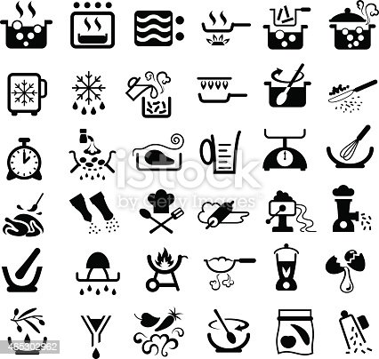 Cooking Symbols Stock Vector Art Amp More Images Of 2015