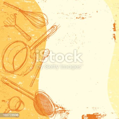 Cooking utensil background stock vector art more images for Kitchen design vector