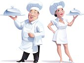 cook man and woman