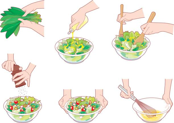 kochen  - dressing stock-grafiken, -clipart, -cartoons und -symbole