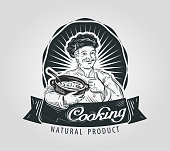 cooking vector logo design template. restaurant, food or cook, chef
