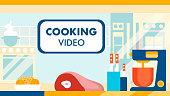 Cooking Video Blog, Channel Vector Illustration