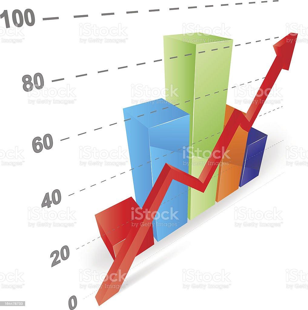 Cool 3D Graph royalty-free stock vector art