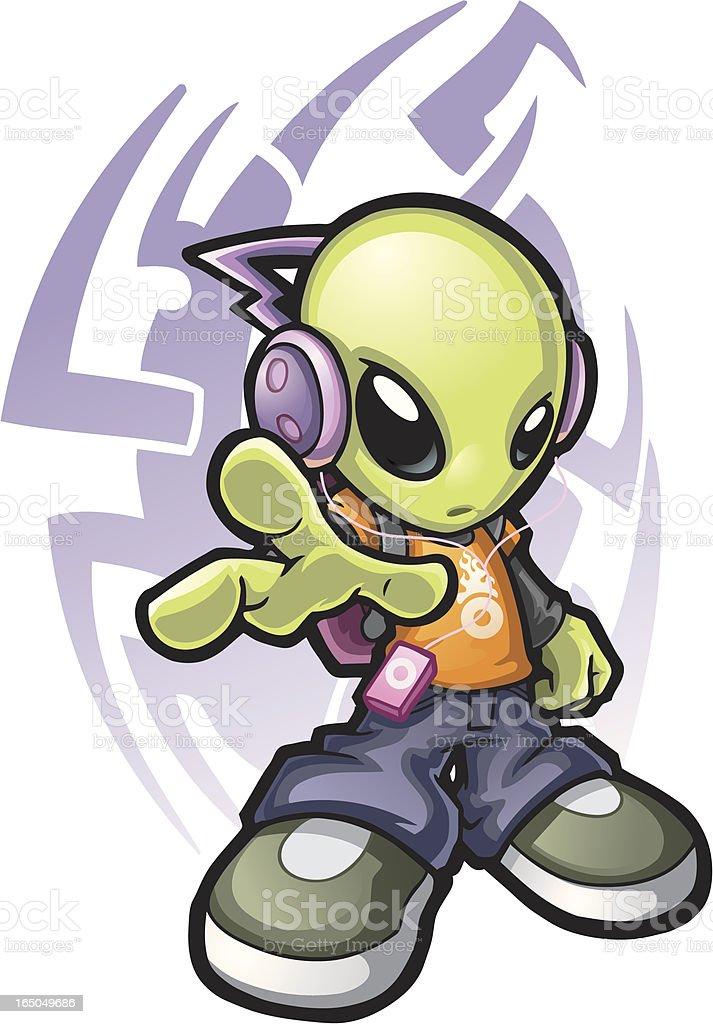 Cool Alien vector art illustration