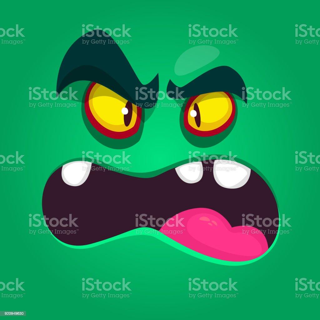 Vetores De Monstro Dos Desenhos Animados Legal E Com Raiva Avatar De Monstro Vector Halloween Para Imprimir Ilustracao Isolado E Mais Imagens De Alienigena Istock
