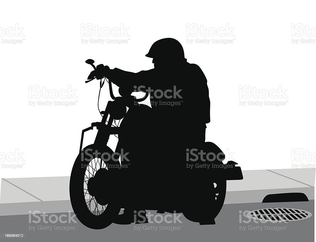Cool Bike Vector Silhouette royalty-free stock vector art