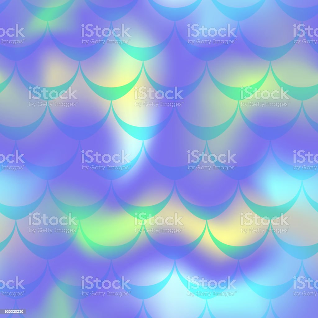 Cool blue mermaid vector background. Multicolored iridescent background. vector art illustration