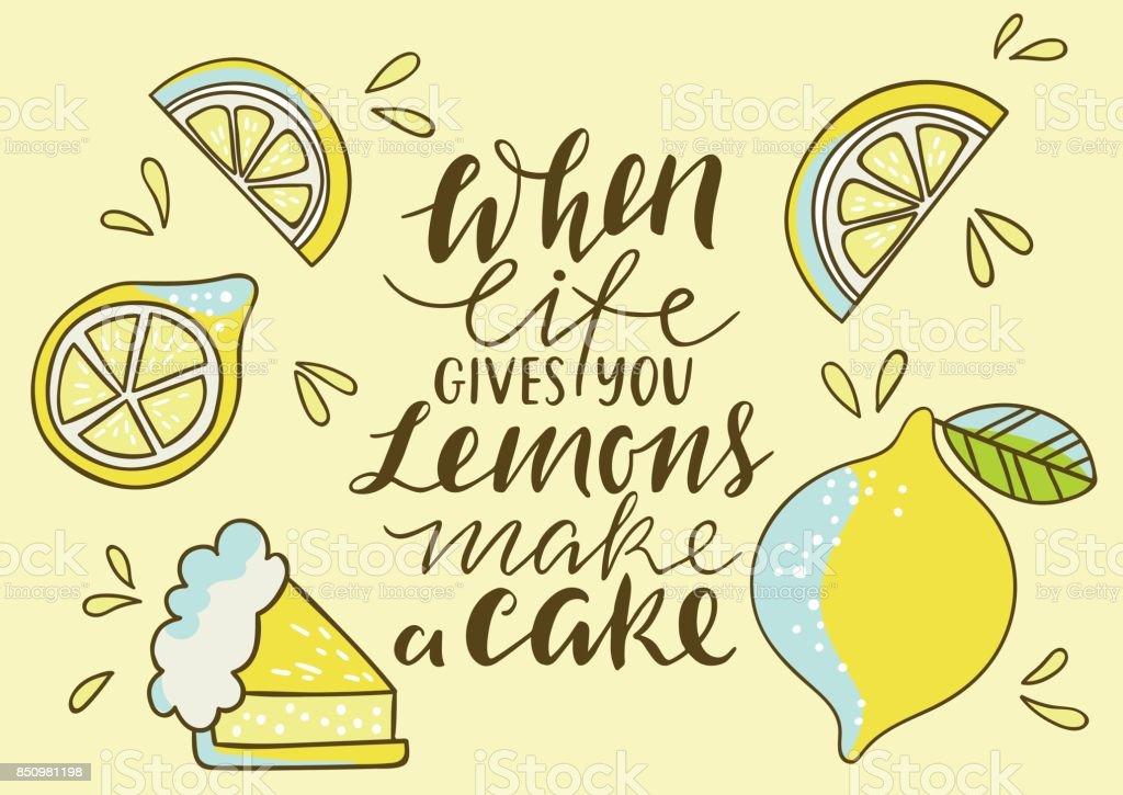 Coolem Helle Print Mit Zitrone Wenn Das Leben Gibt Machen Ihnen