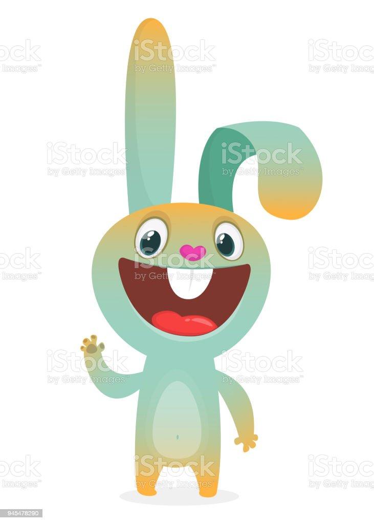 Cooler Hase Cartoon Isoliert Auf Weißem Hintergrund ...