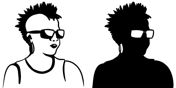 Cool Chick Silhouette