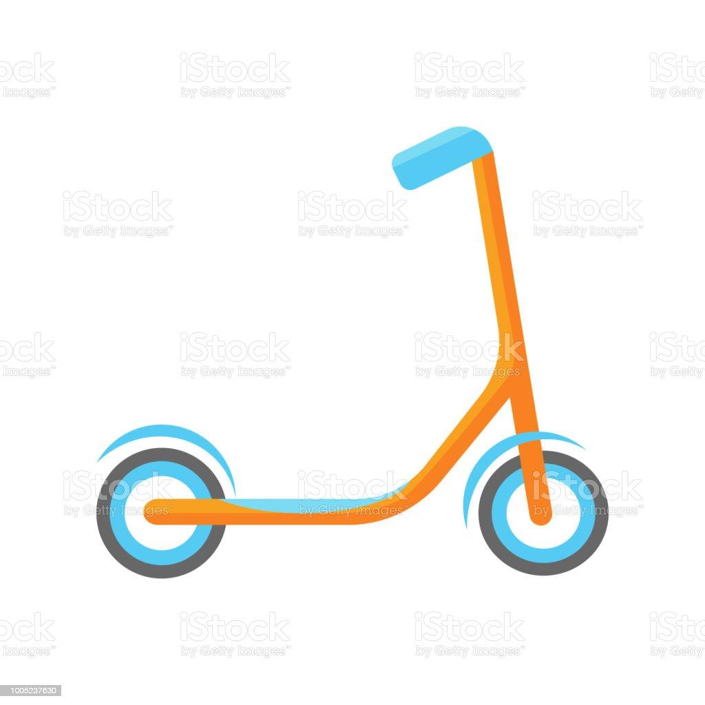 Coole Kinder Orange Scooter Mit Blauen Felgen Und Ruder ...