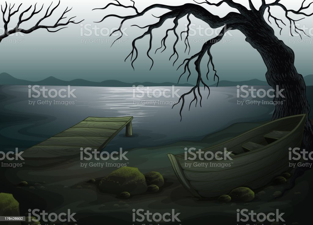 Cool creepy forest royalty-free stock vector art