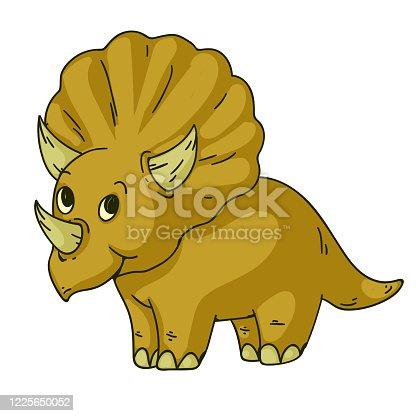 Cool dinosaur, dino. Cartoon mascot for children, kids clothing. Fashionable illustration for t-shirt designs