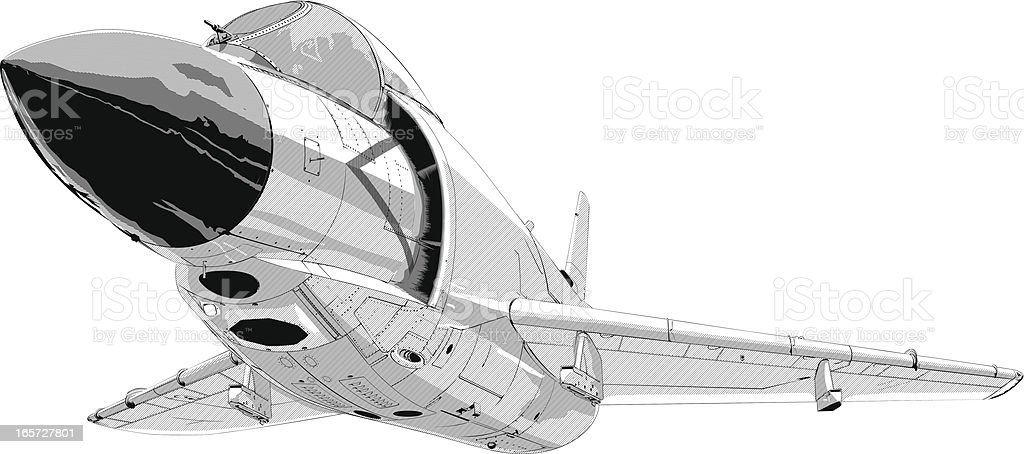 Cool fighter jet royalty-free stock vector art