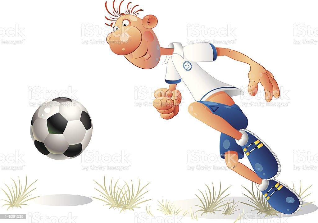 クールなフットボール ベクターアートイラスト