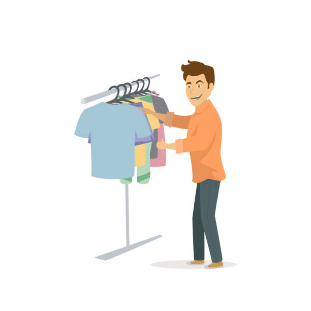 Top 60 Choosing Clothes Clip Art Vector Graphics And Illustrations