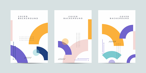 Cool geometric cover design collection