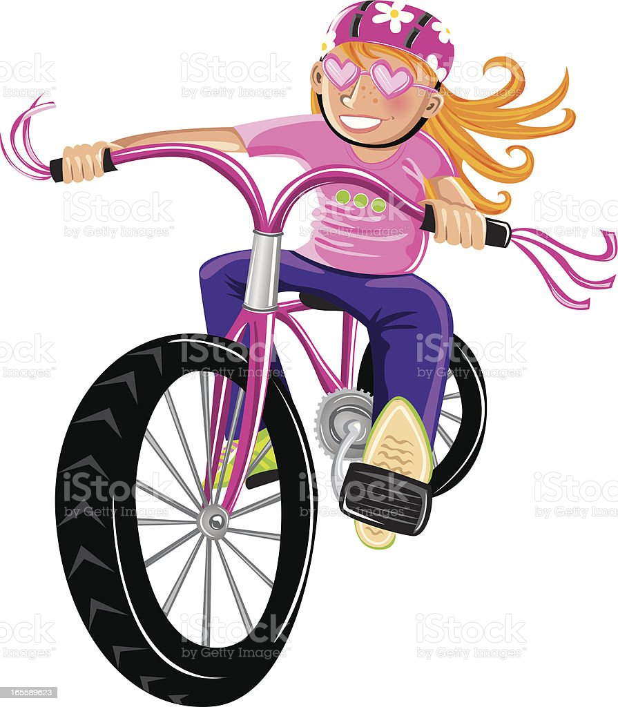 Cool girl riding bike royalty-free cool girl riding bike stock vector art & more images of activity