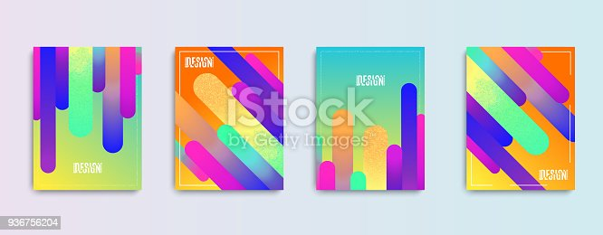 Cool gradient shapes composition. Modern abstract covers set. Eps10 vector.