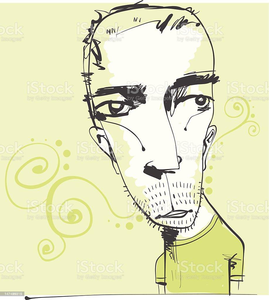Cool Guy vector art illustration