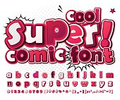 Multilayer colorful 3d letters and figures for kids' illustrations, comics, banners. Letters are painted differently
