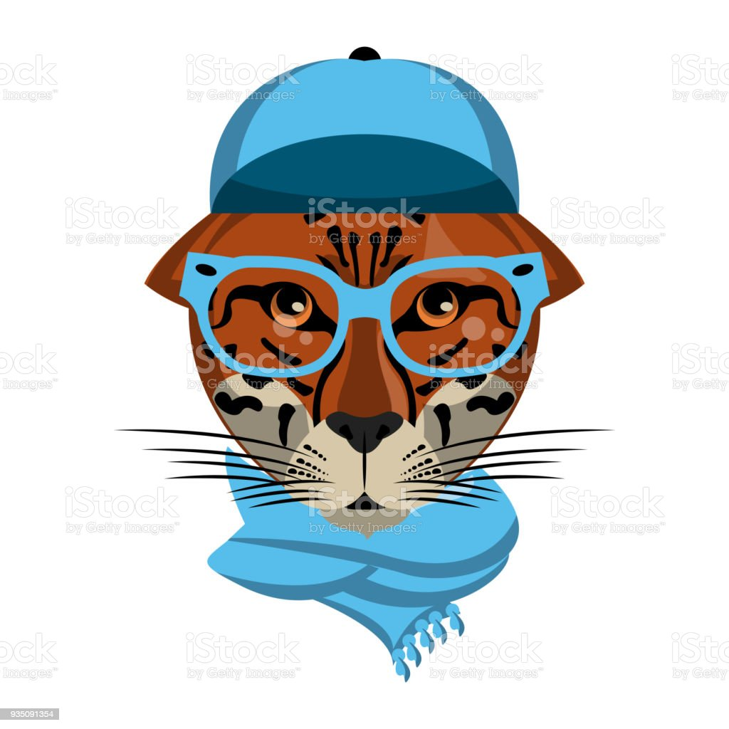 cool hipster leopard stock vector art more images of africa rh istockphoto com cool free vector art cool vector art sites