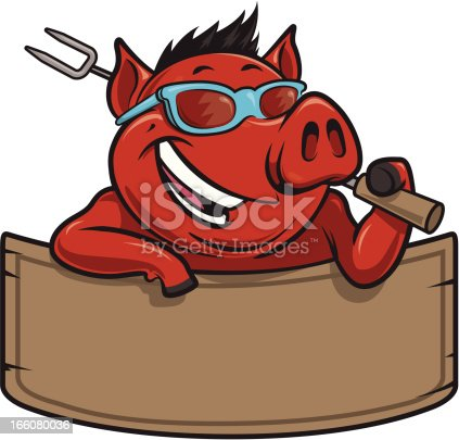 istock cool hog bbq and banner 166080036