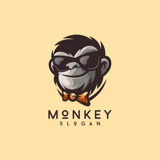 cool monkey logo design vector illustrator cool monkey logo design vector illustrator monkey stock illustrations