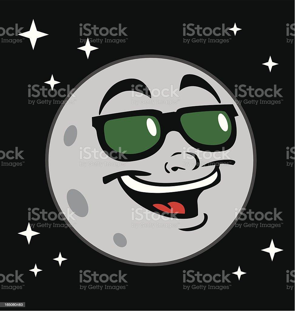 Cool Moon vector art illustration