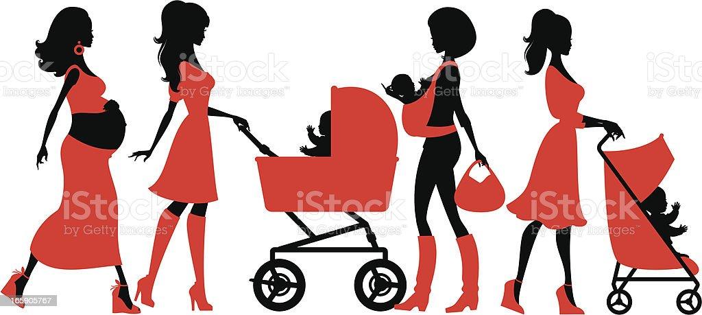 Cool Motherhood vector art illustration