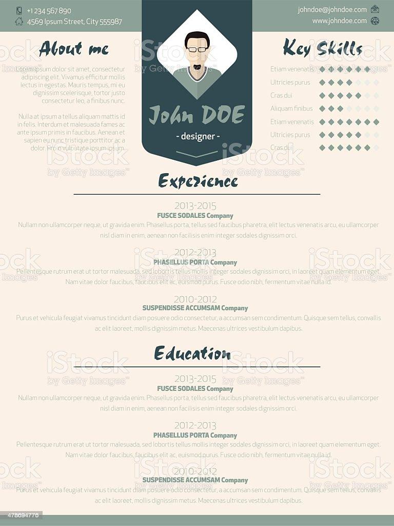 Ilustración de Tonos Nueva Moderna Reanudar Curriculum Vitae ...