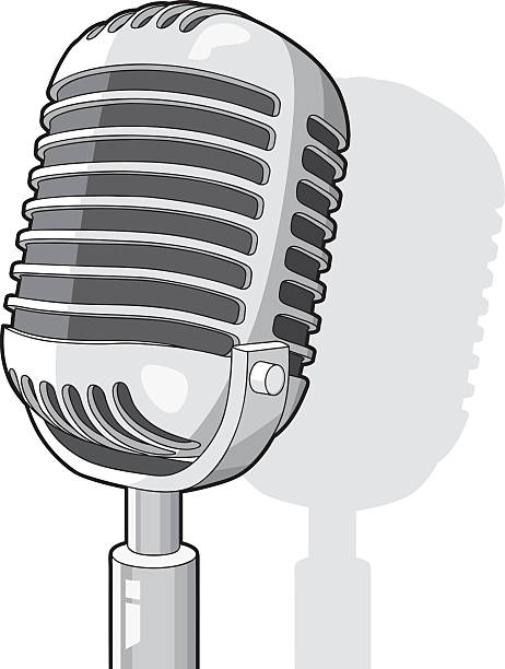 Royalty Free Retro Microphone Drawings Clip Art, Vector ...