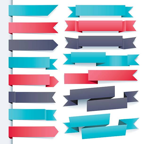 cool ribbon set vector art illustration